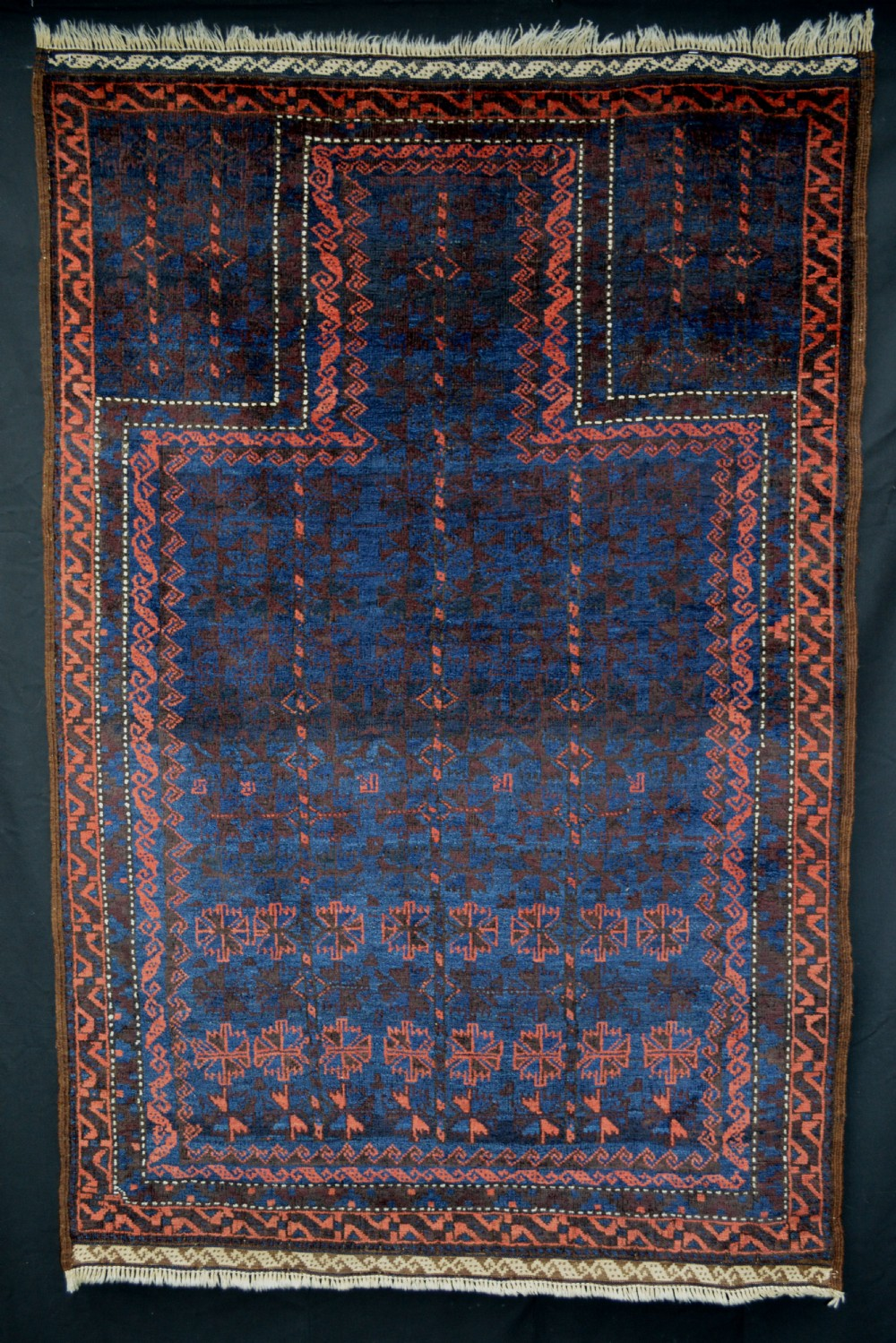 antique prayer rug timuri tribes western afghanistan