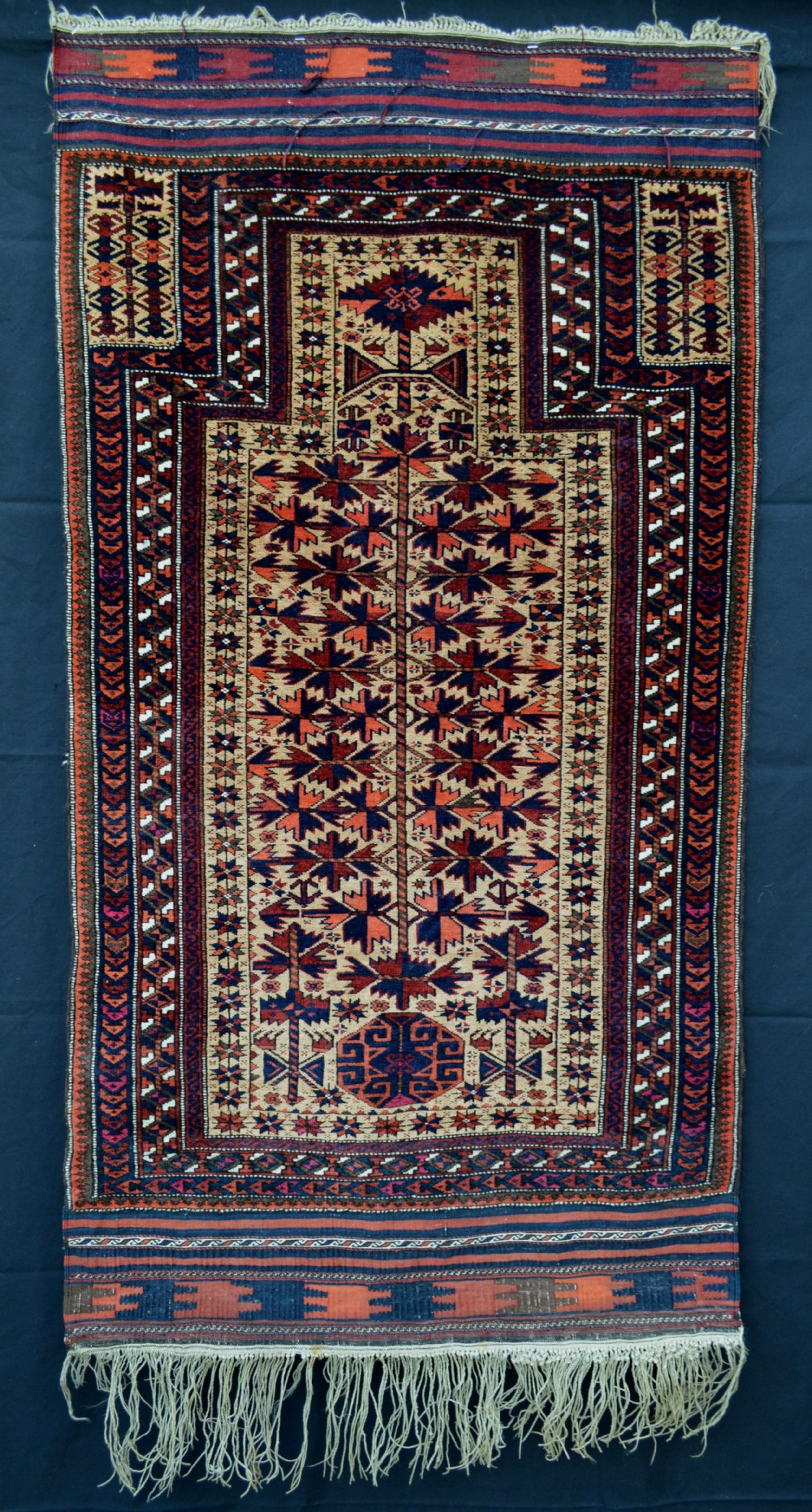antique 'prayer rug' timurisangtschuli tribe western afghanistan