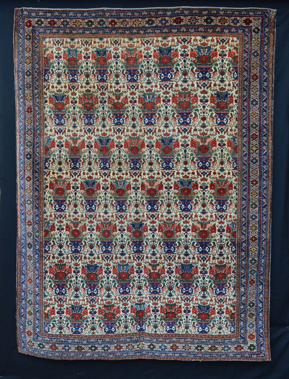 antique afshar rug dehaj kerman province southern persia