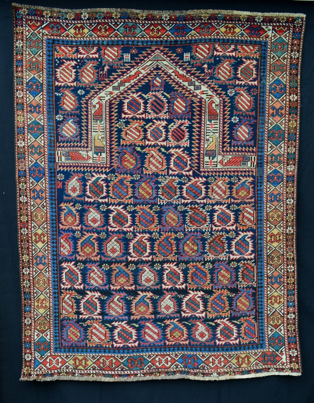 antique prayer rug marasali eastern caucasus