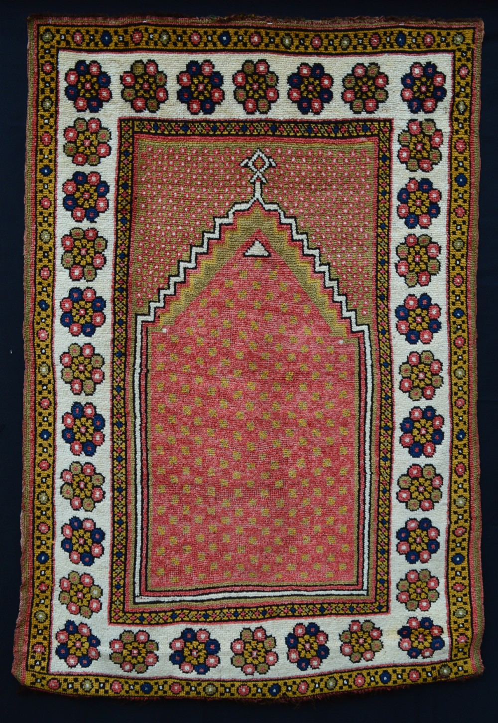 antique prayer rug manastir central anatolia