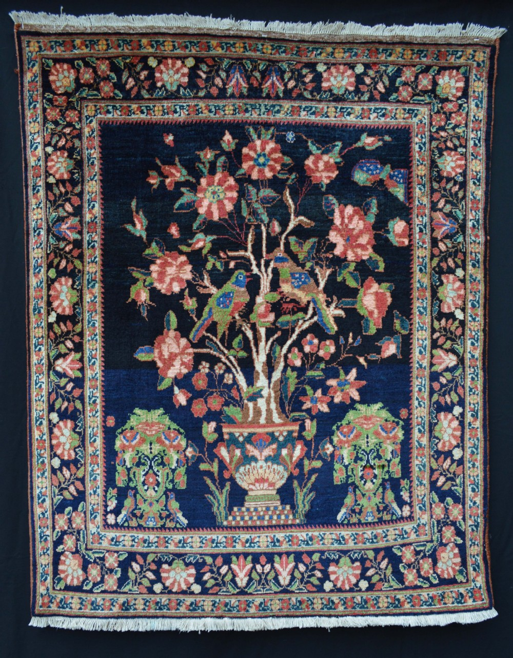 antique afshar tribal rug kerman province south persia