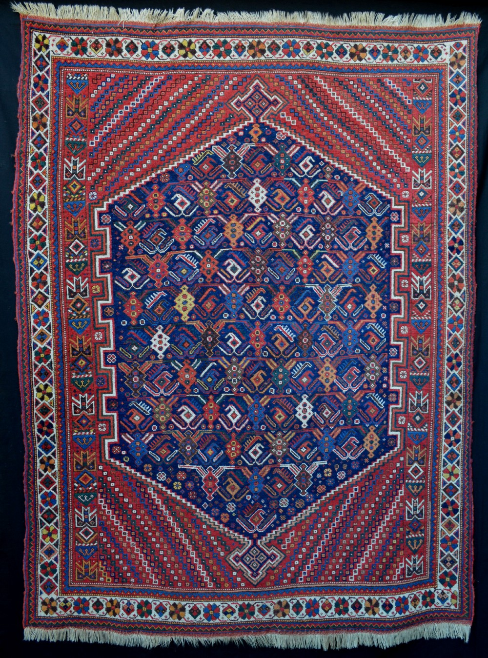 antique afshar rug kerman province south persia