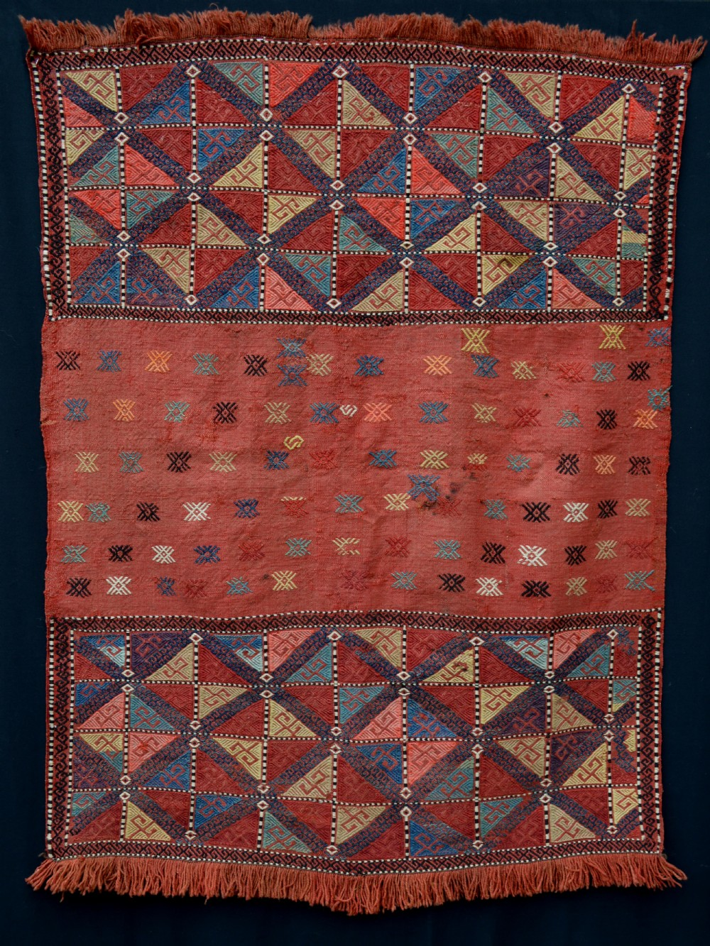 antique mafrash panel azeri tribes azerbaijan