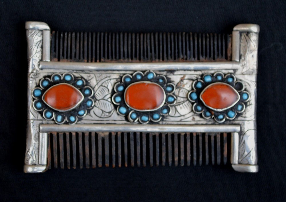 antique turkmen comb tekke tribes turkmenistan central asia