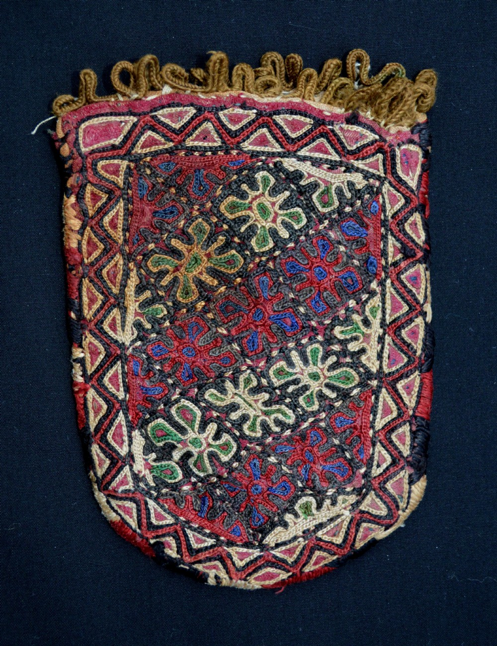 antique turkmen purse chodor tribe turkmenistan central asia