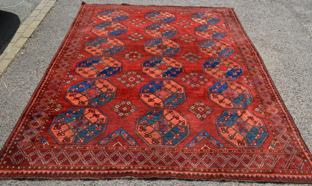 antique turkmen carpet ersari tribes northern afghanistan