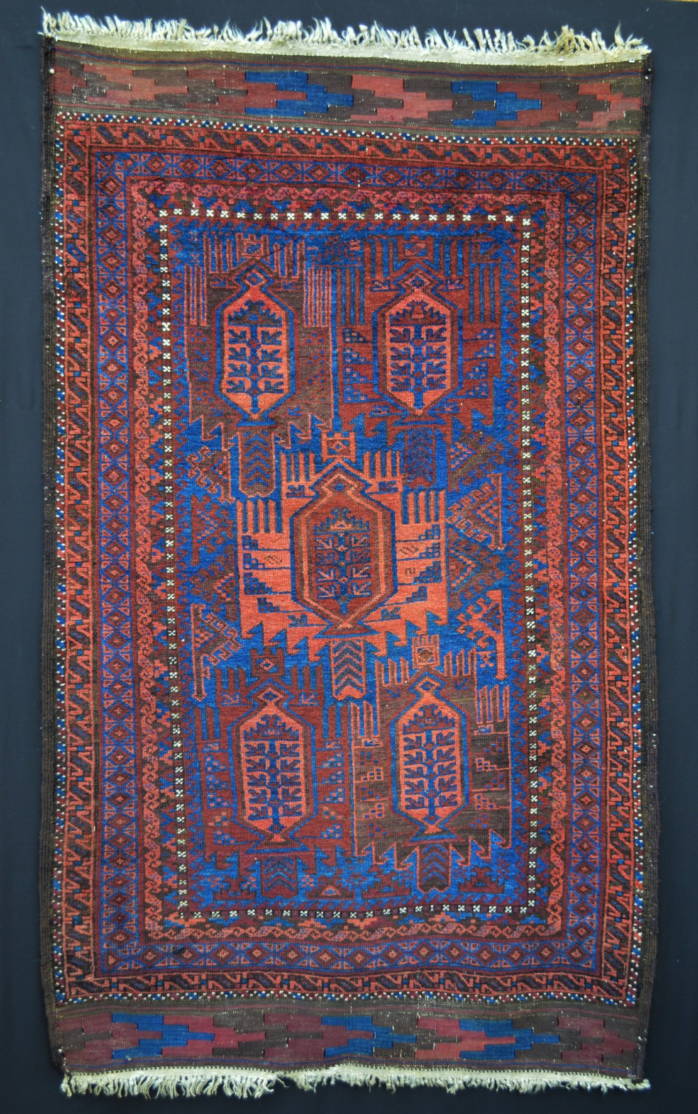 antique timuri tribal rug western afghanistan
