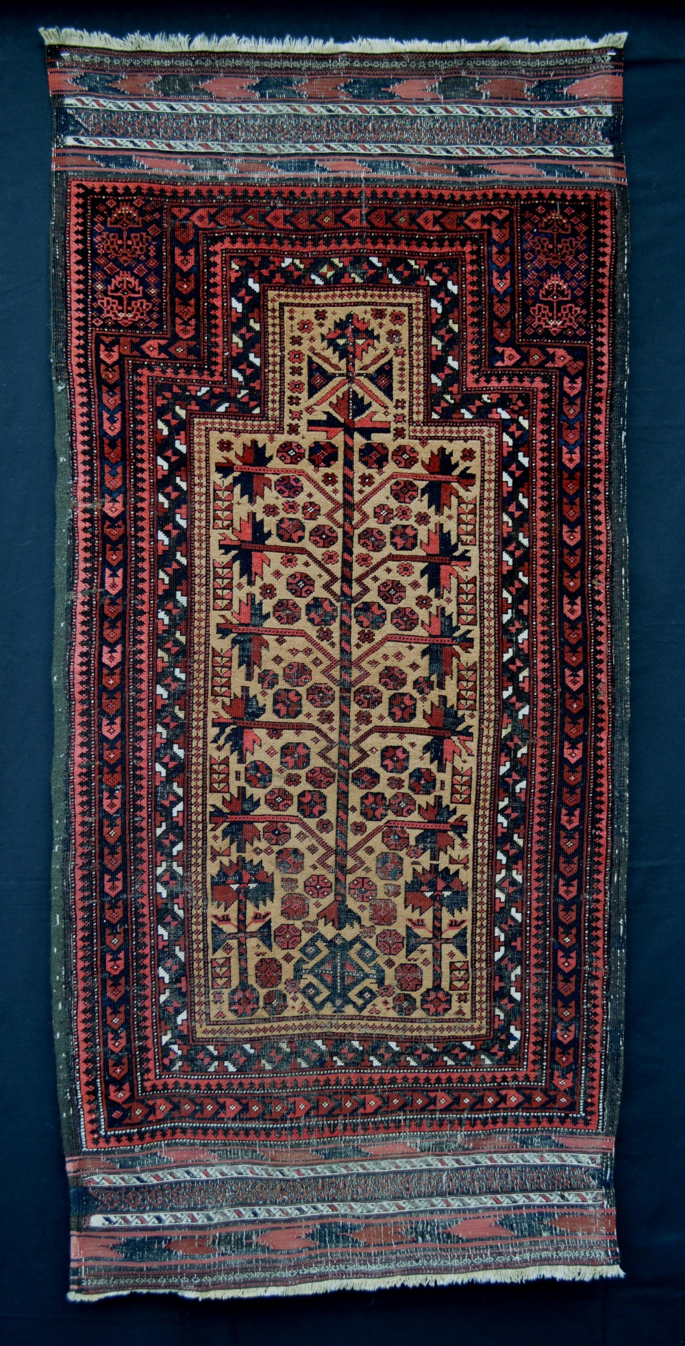 antique prayerrug timuri yaqoub khani tribe borderlands of eastern persiawestern afghanistan