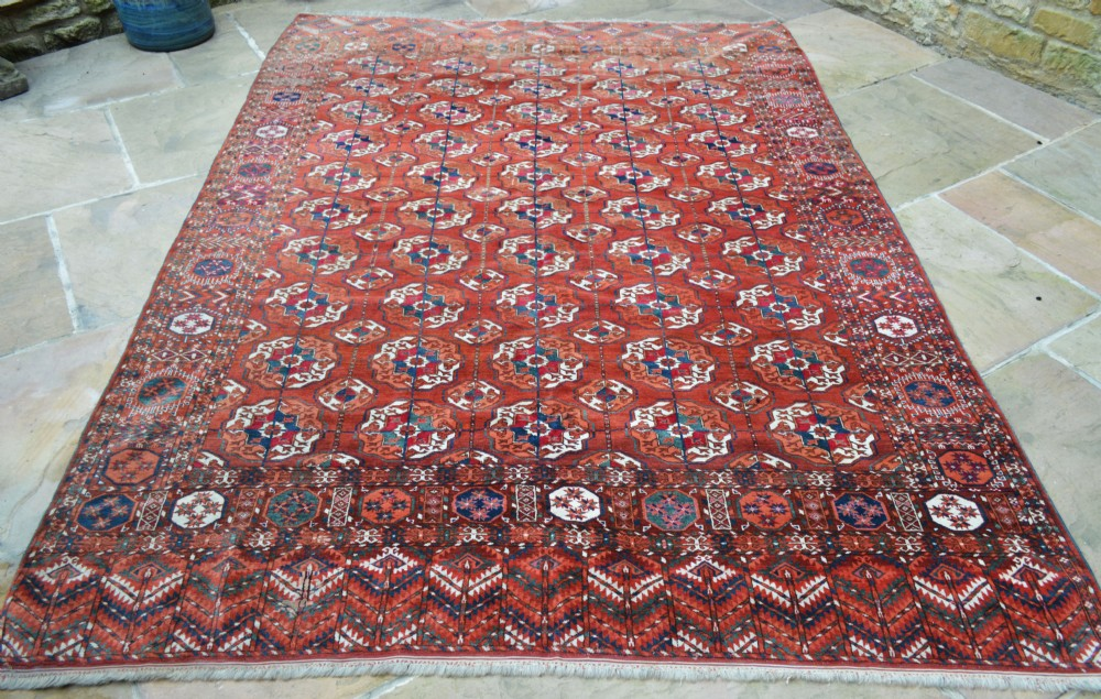 antique turkmen carpet teke tribes akhal oasis turkmenistan central asia