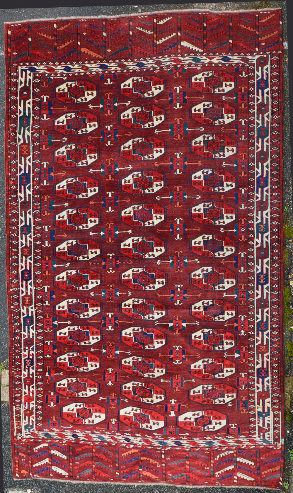 antique turkmen carpet igdyr tribes transcaspian steppes turkmenistan central asia