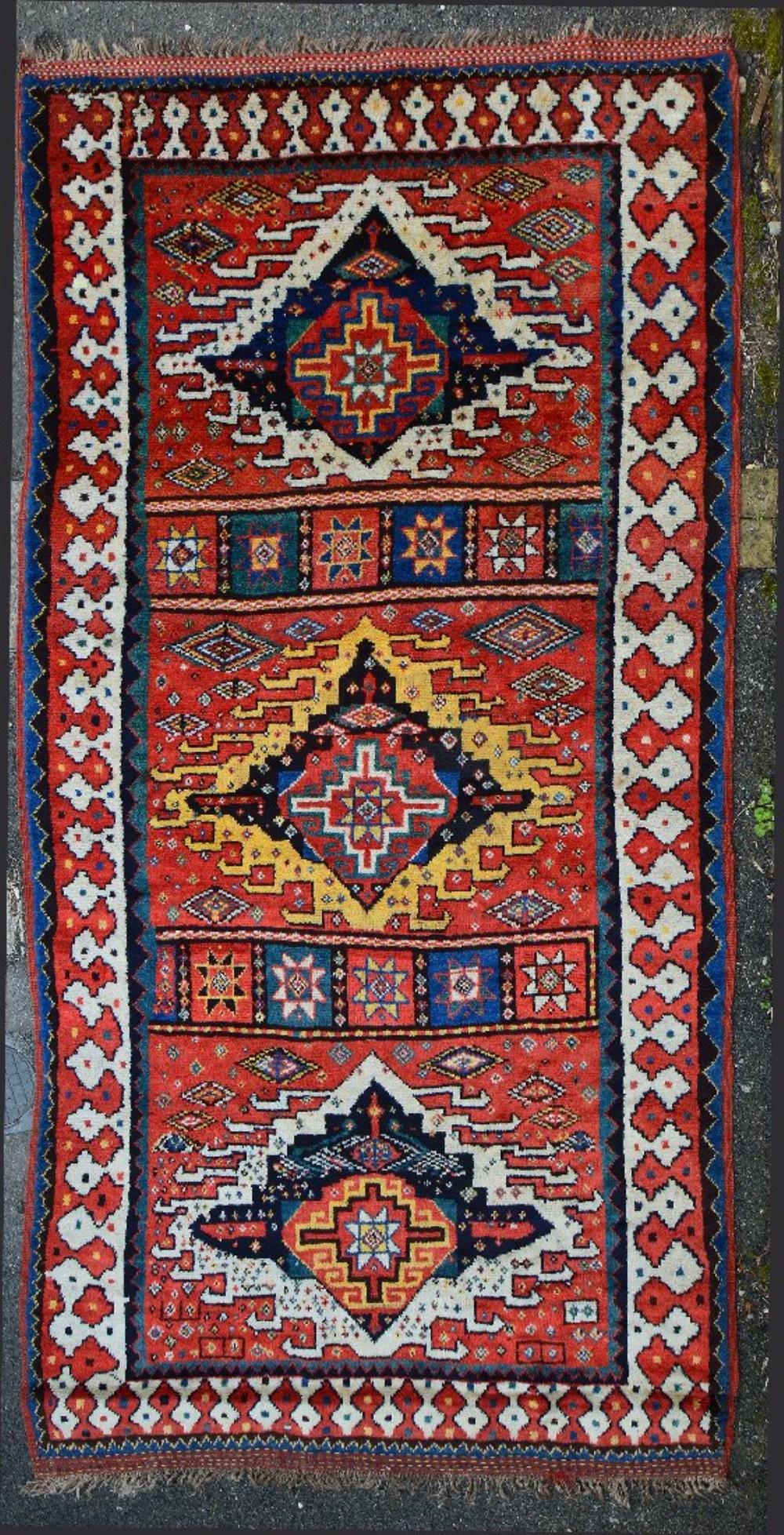 antique kordi corridor carpet quchan region khorassan northeast persia
