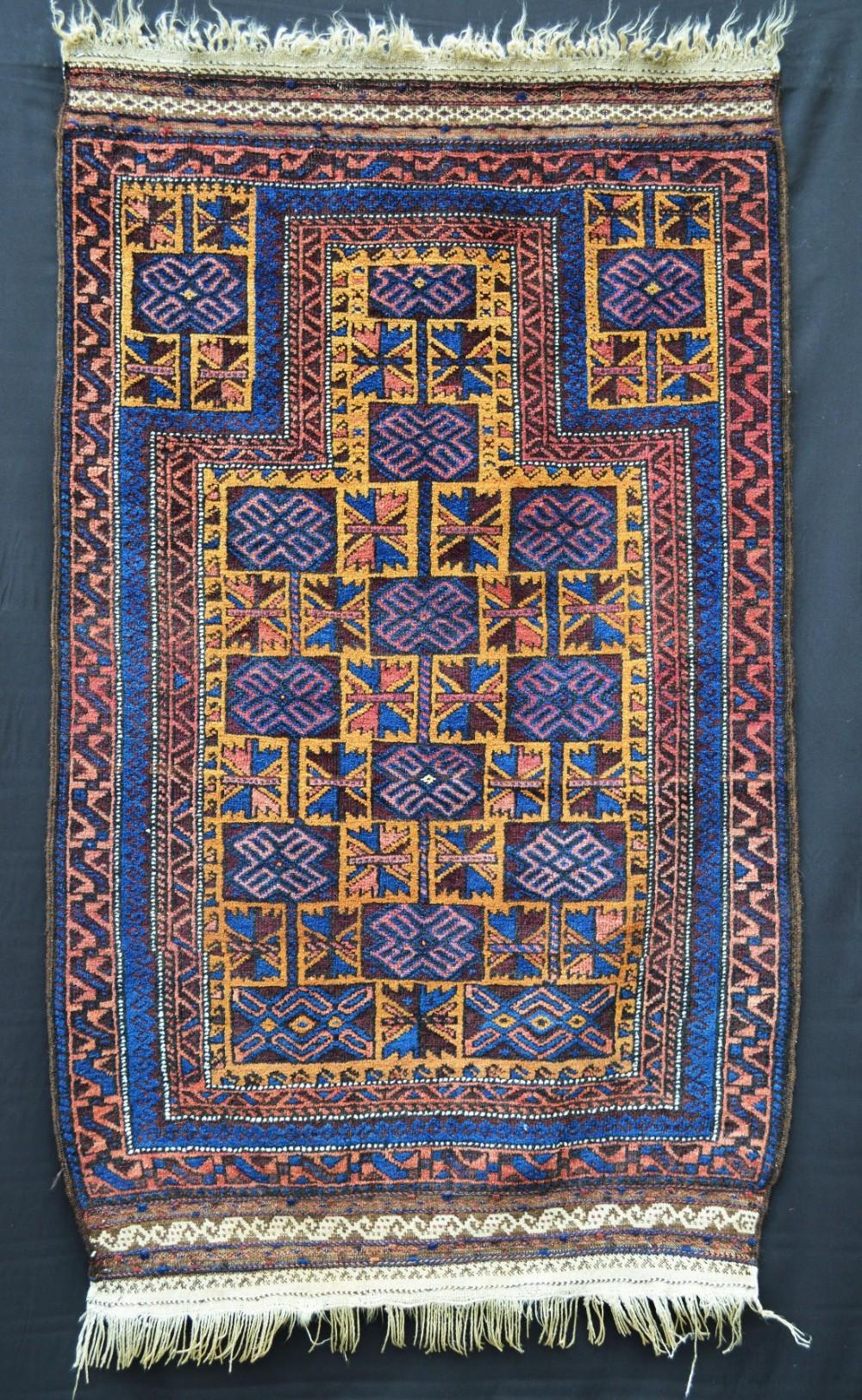antique prayerrug timuri yaqoub khani tribe western afghanistan