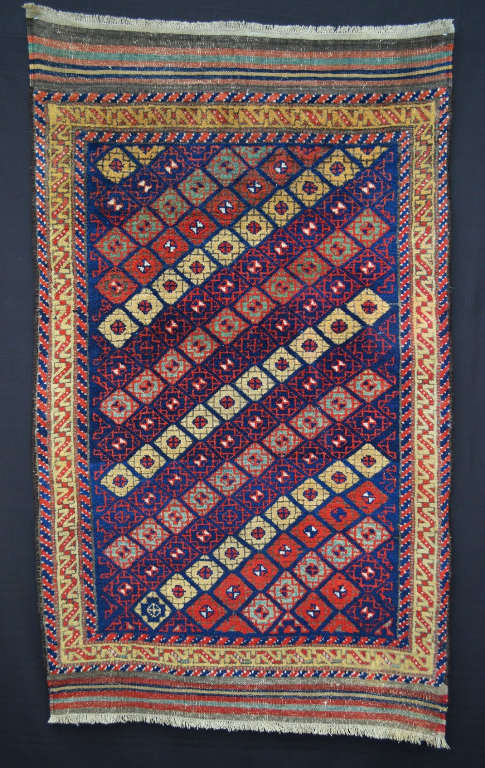 antique kordi tribal rug kurds of quchan khorassan northeast persia