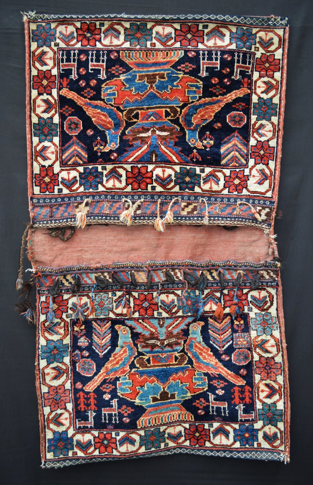 antique saddlebags afshar tribes kerman province southern persia