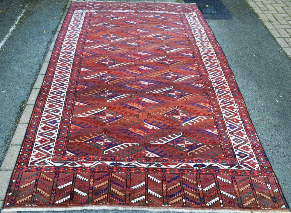 antique turkmen carpet yomut tribe transcaspian steppes turkmenistan