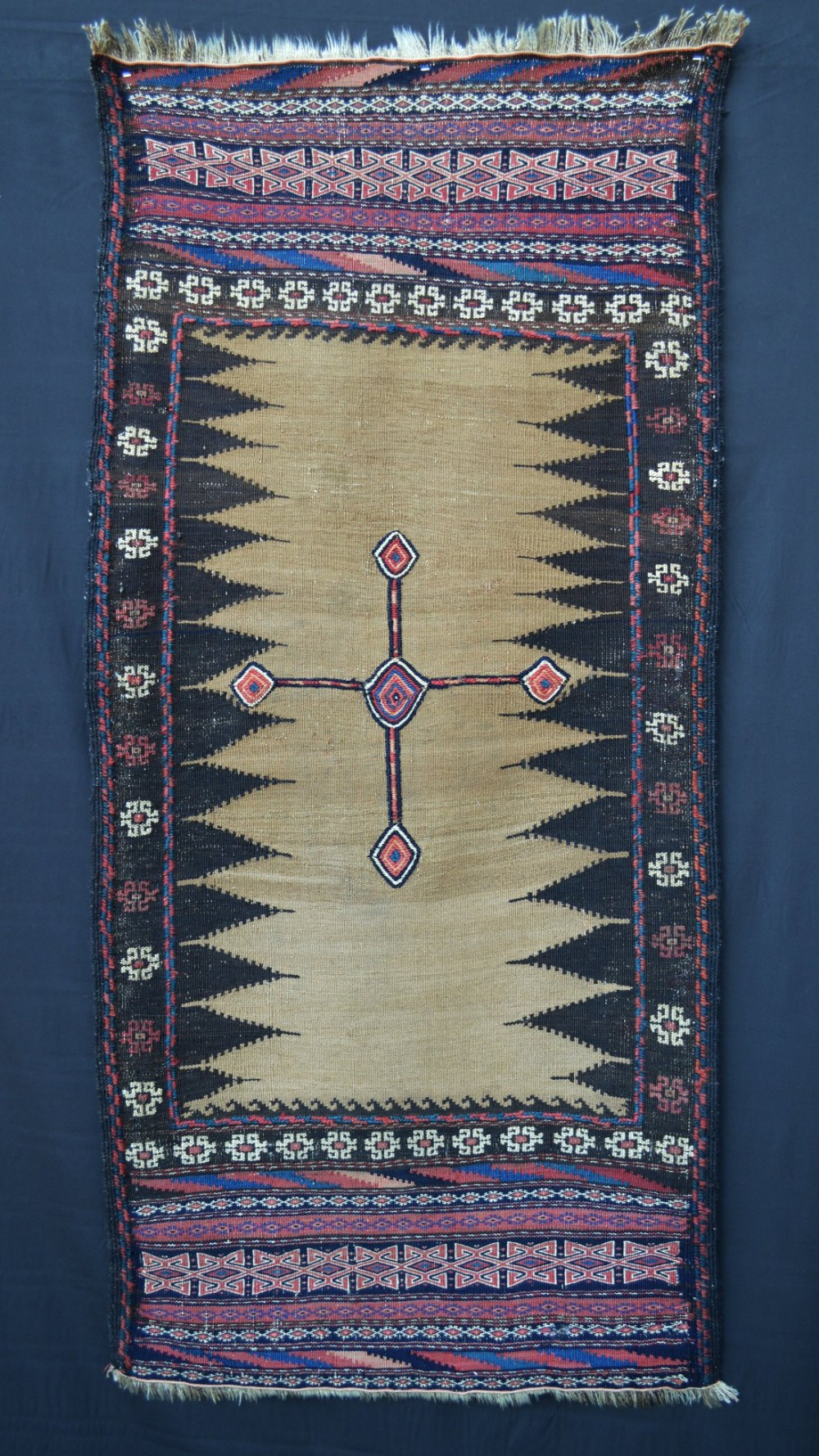 antique sofreh dining flatweave timuri tribes western afghanistan