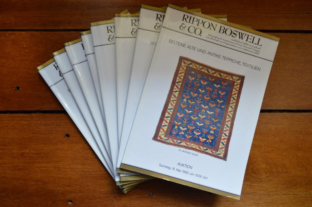 8 rippon boswell oriental rugs auction catalogues