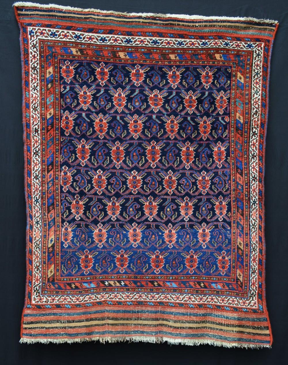 antique afshar tribal rug sirjan kerman province southern persia