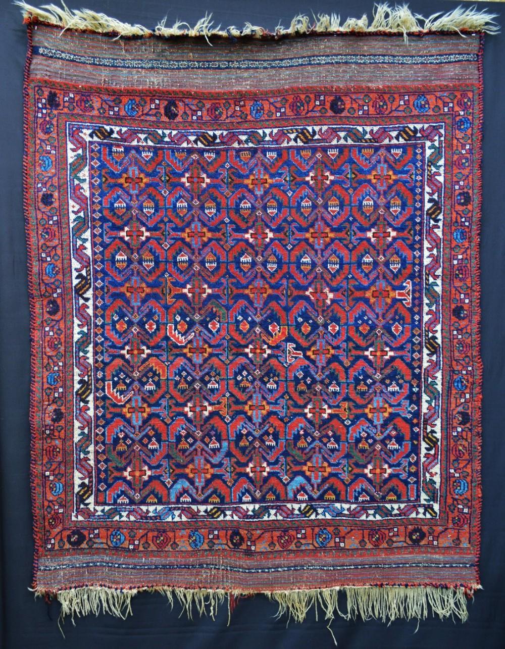 antique afshar tribal rug sirjan region kerman province south persia