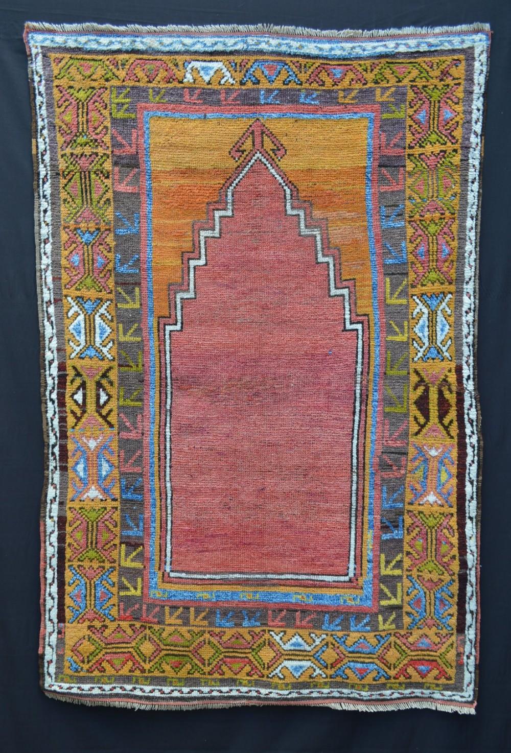 antique prayerrug konya central anatolia