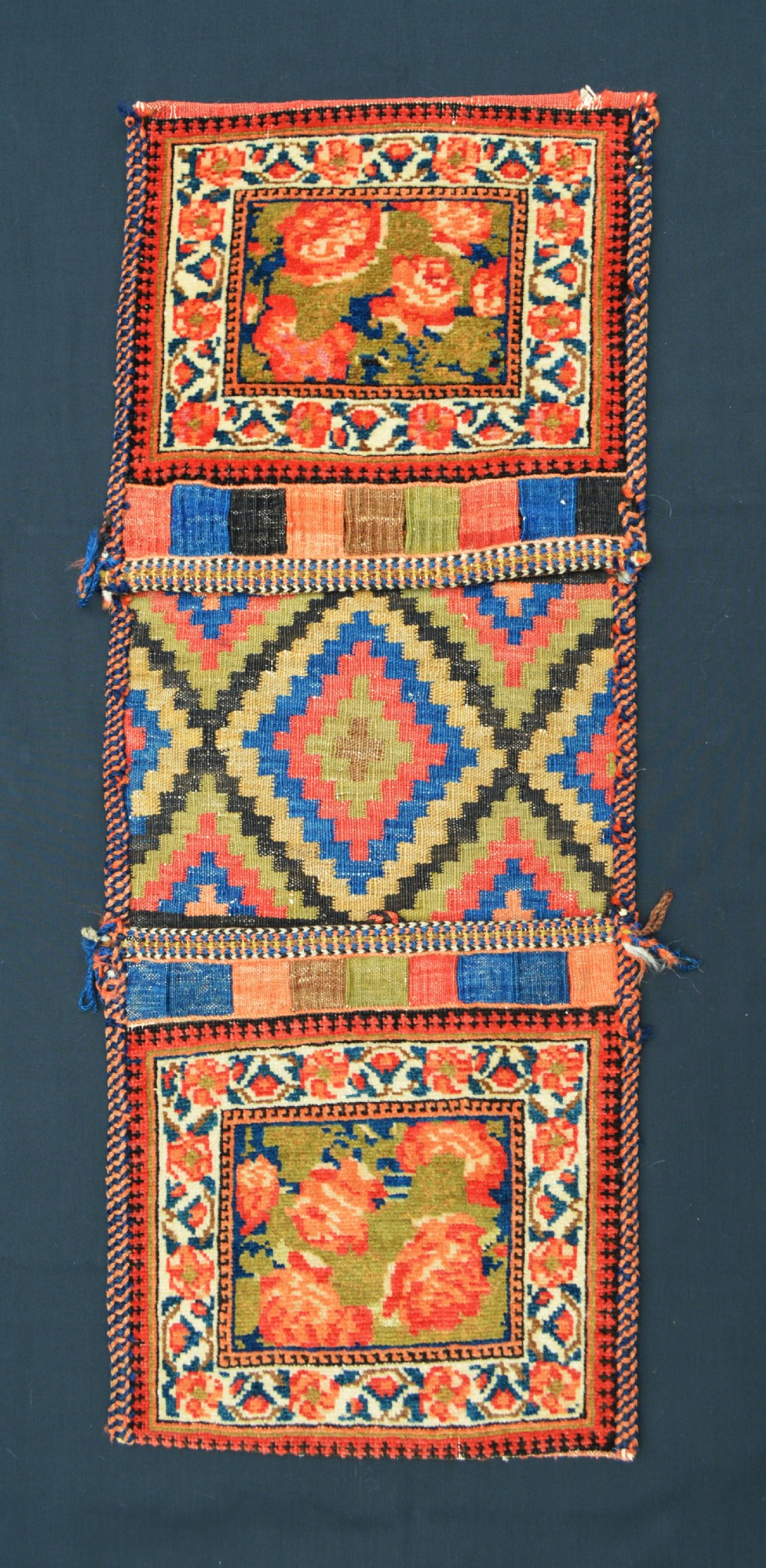 antique khorjin mini saddlebags afshar nomads of aqta'e kerman province southwest persia