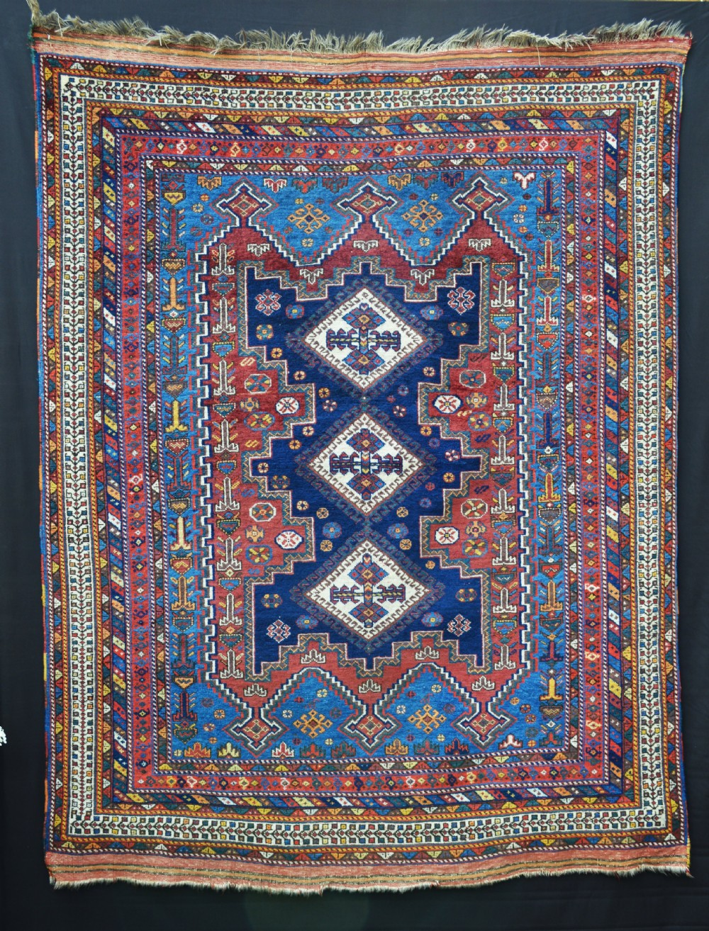 antique afshar tribal rug sirjan region kerman province southern persia
