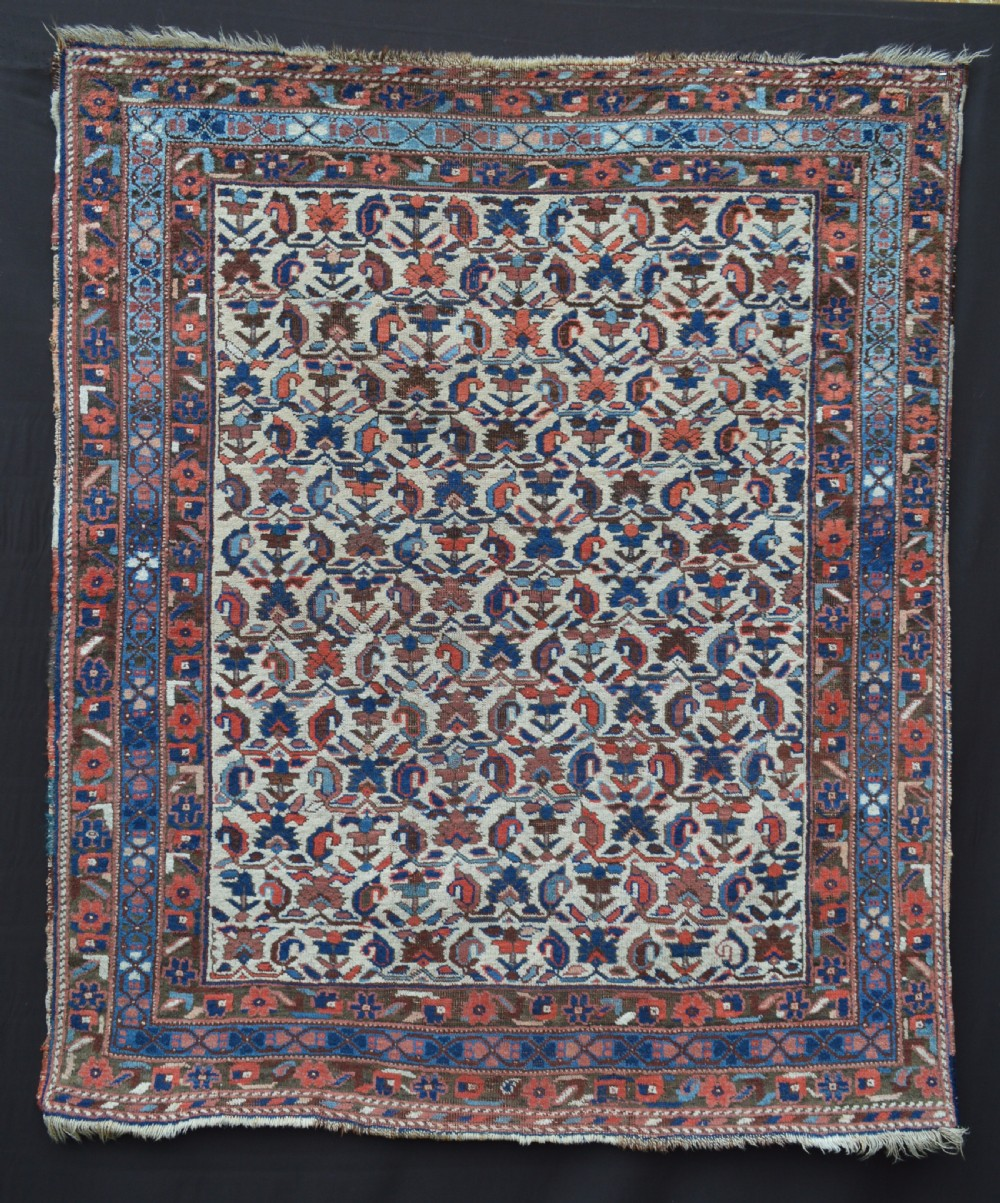 antique afshar rug neiriz kerman province southern persia