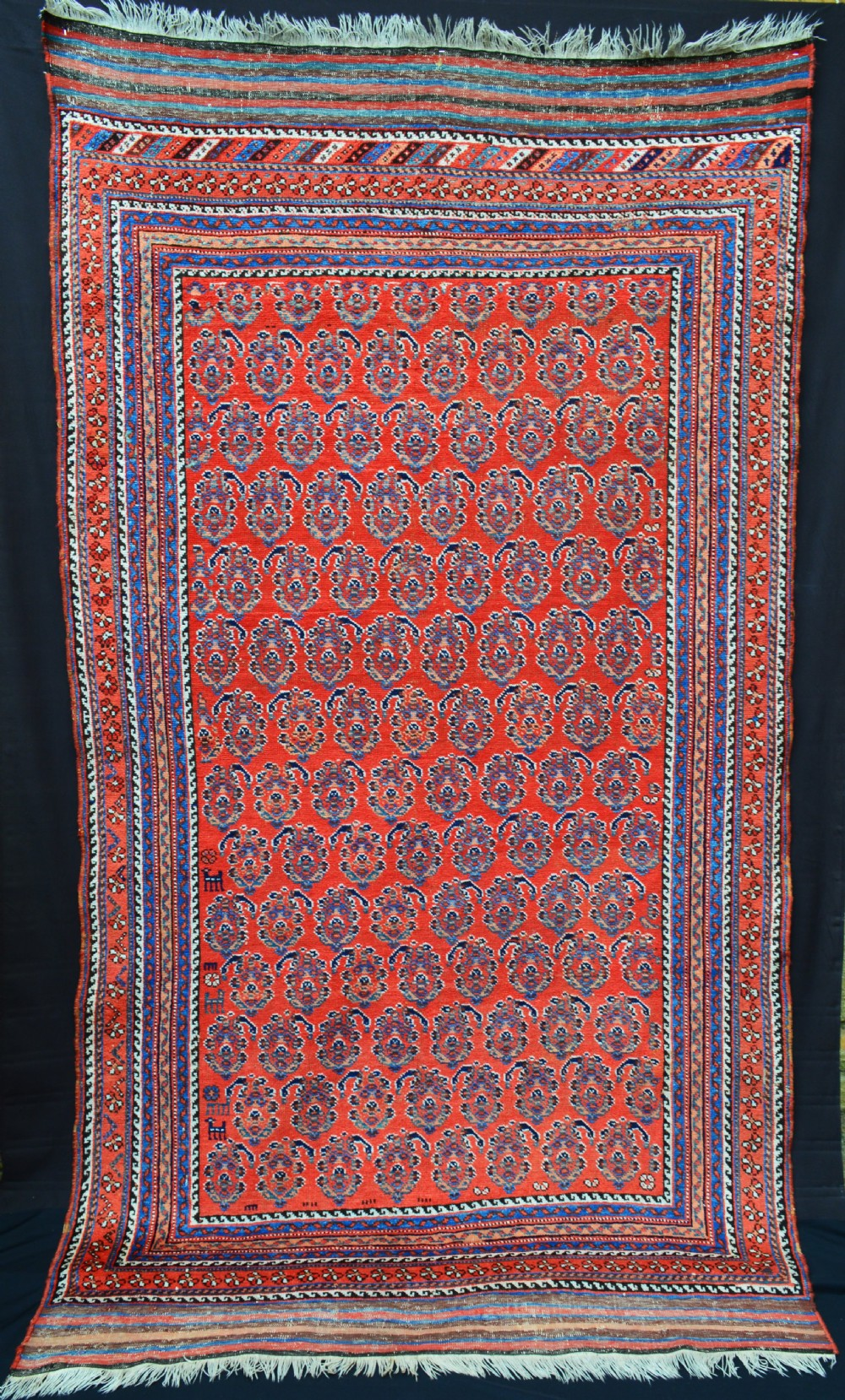 antique afshar carpet kerman province southern persia