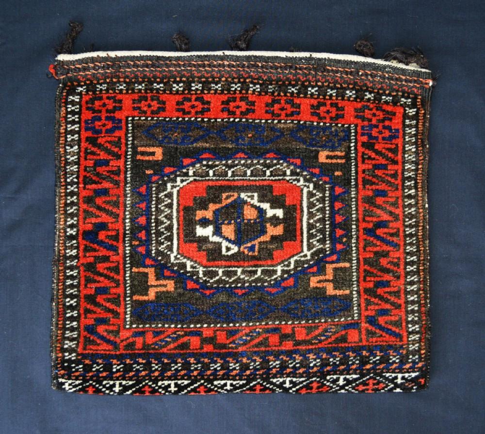 antique baluch chanteh vanitybag mahdad khani nomads khorassan province northeast persia