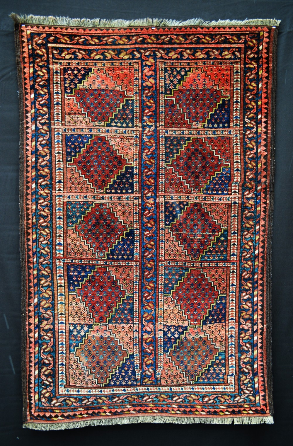 antique turkmen rug ersary tribes middle amu darya region turkmenistan central asia