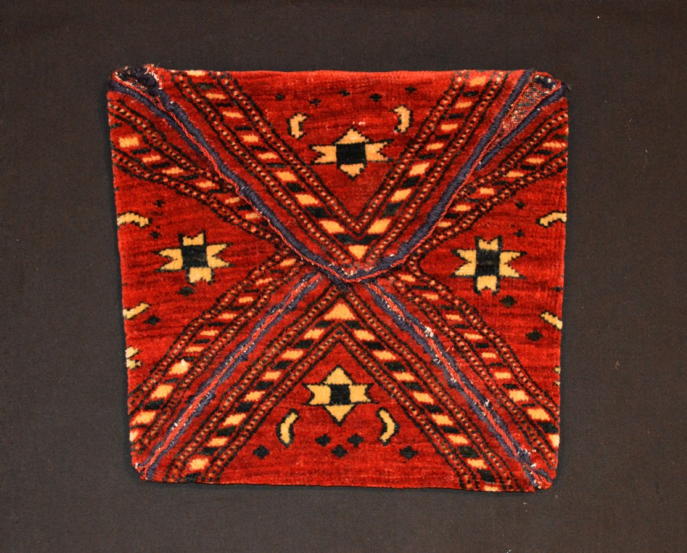 antique turkmen bukcha wedding mirror bag goklen tribe turkmenistan central asia