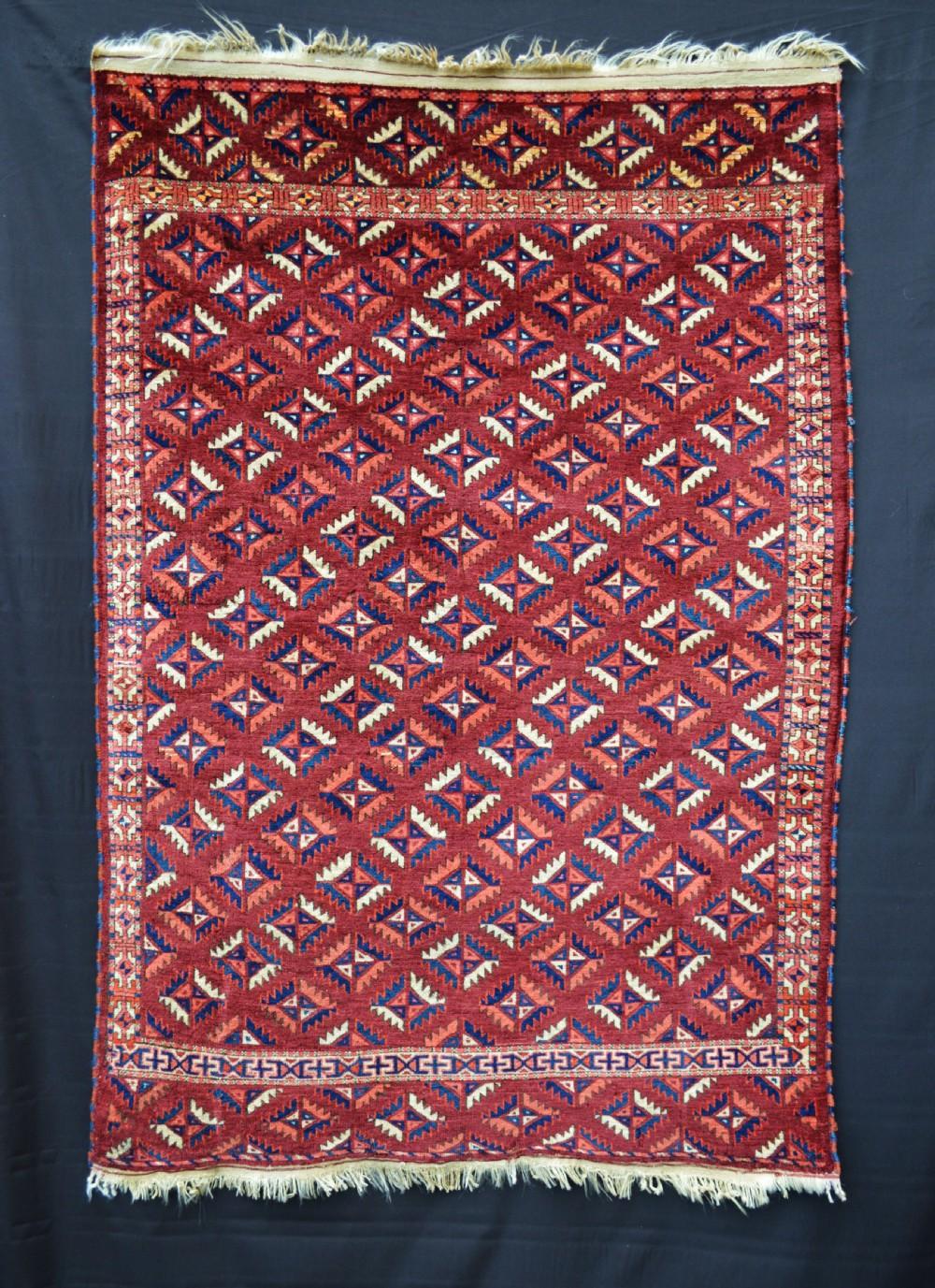 antique turkmen wedding rug goklen tribe turkmenistan central asia
