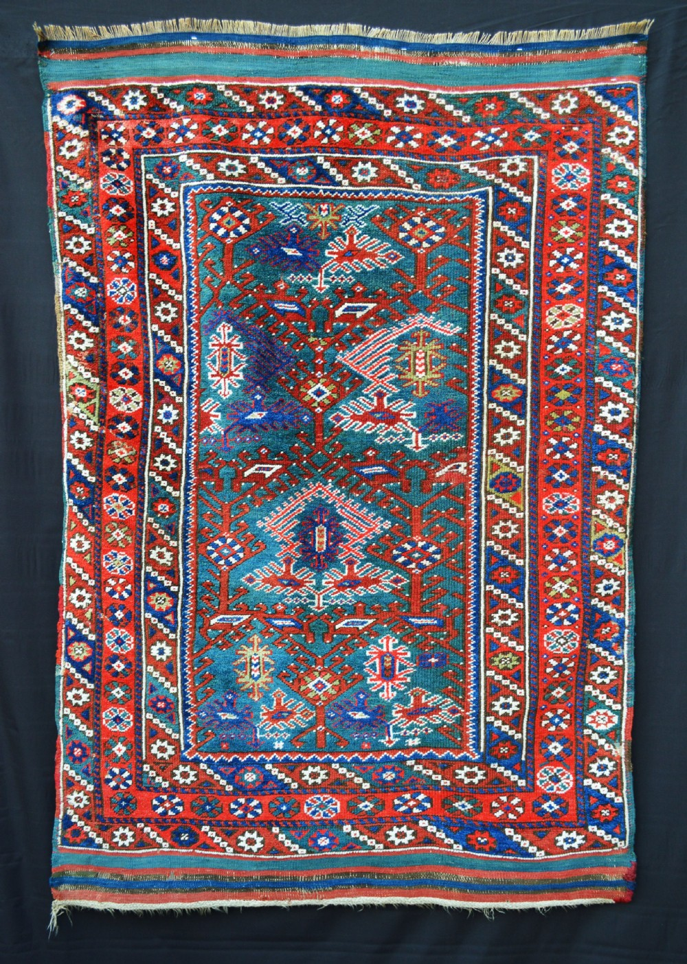 antique anatolian rug bergama western turkey