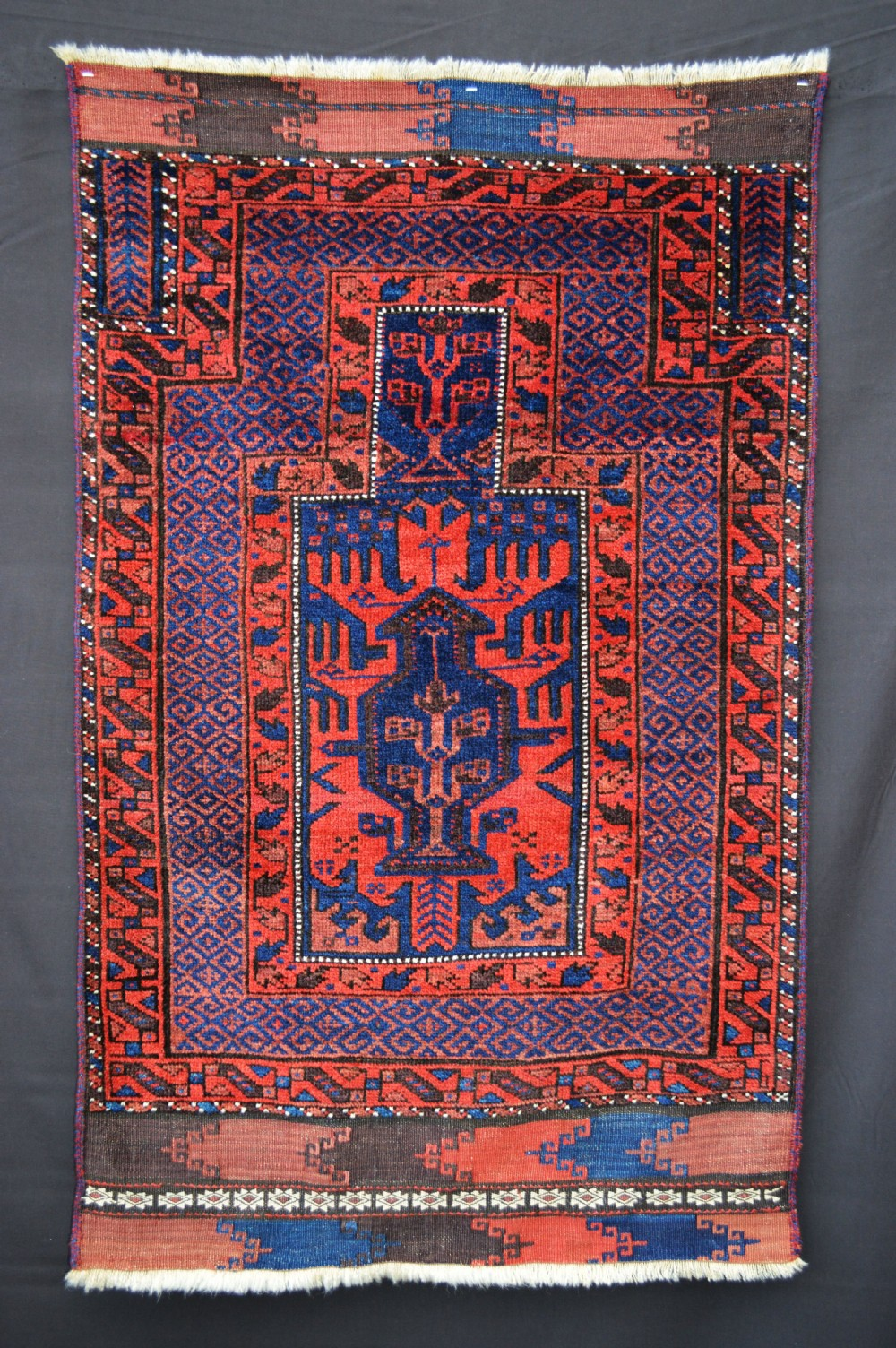 antique prayerrug timuri tribes western afghanistan