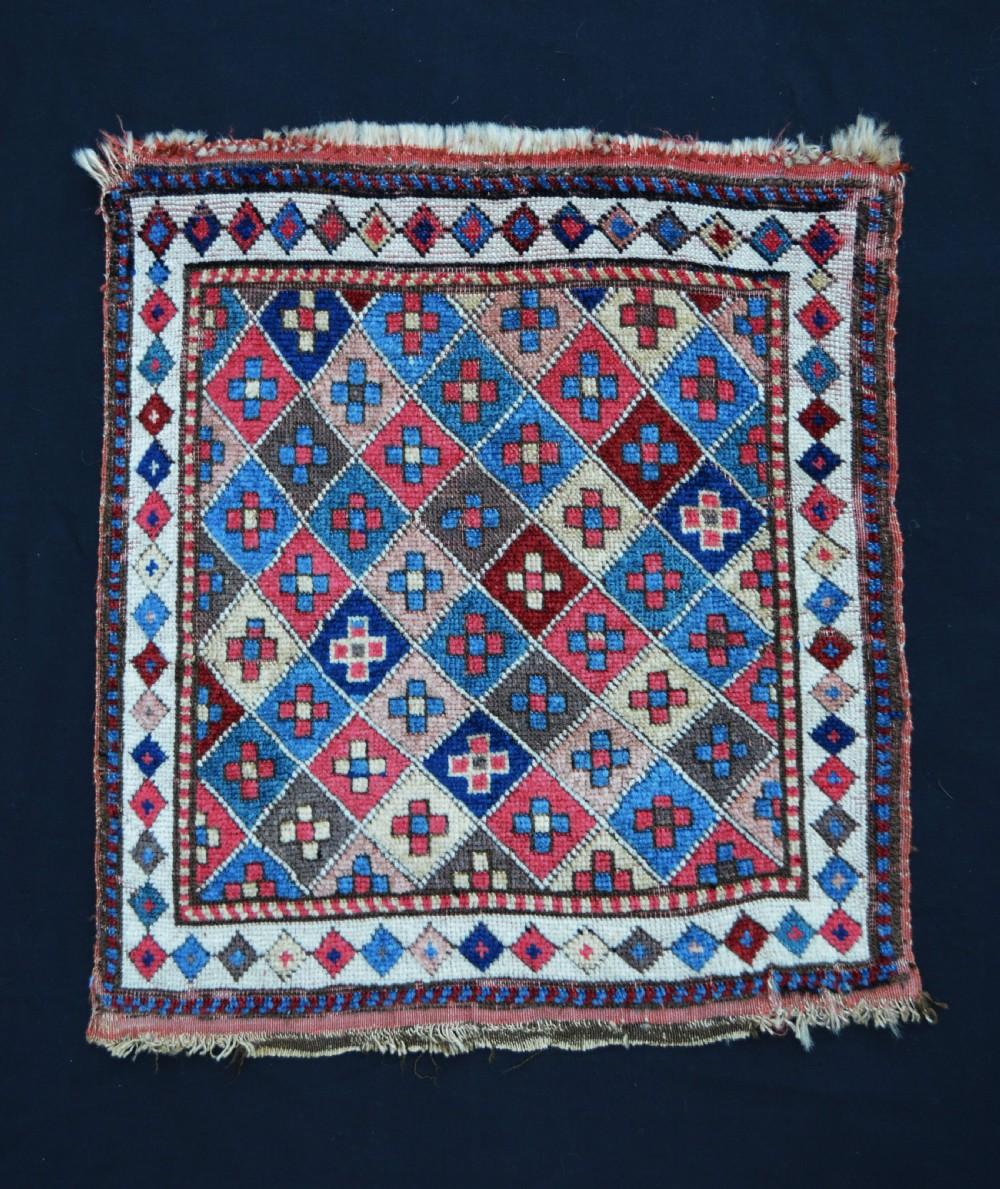 antique saddlebag face shahsevan nomads moghan region azerbaijan