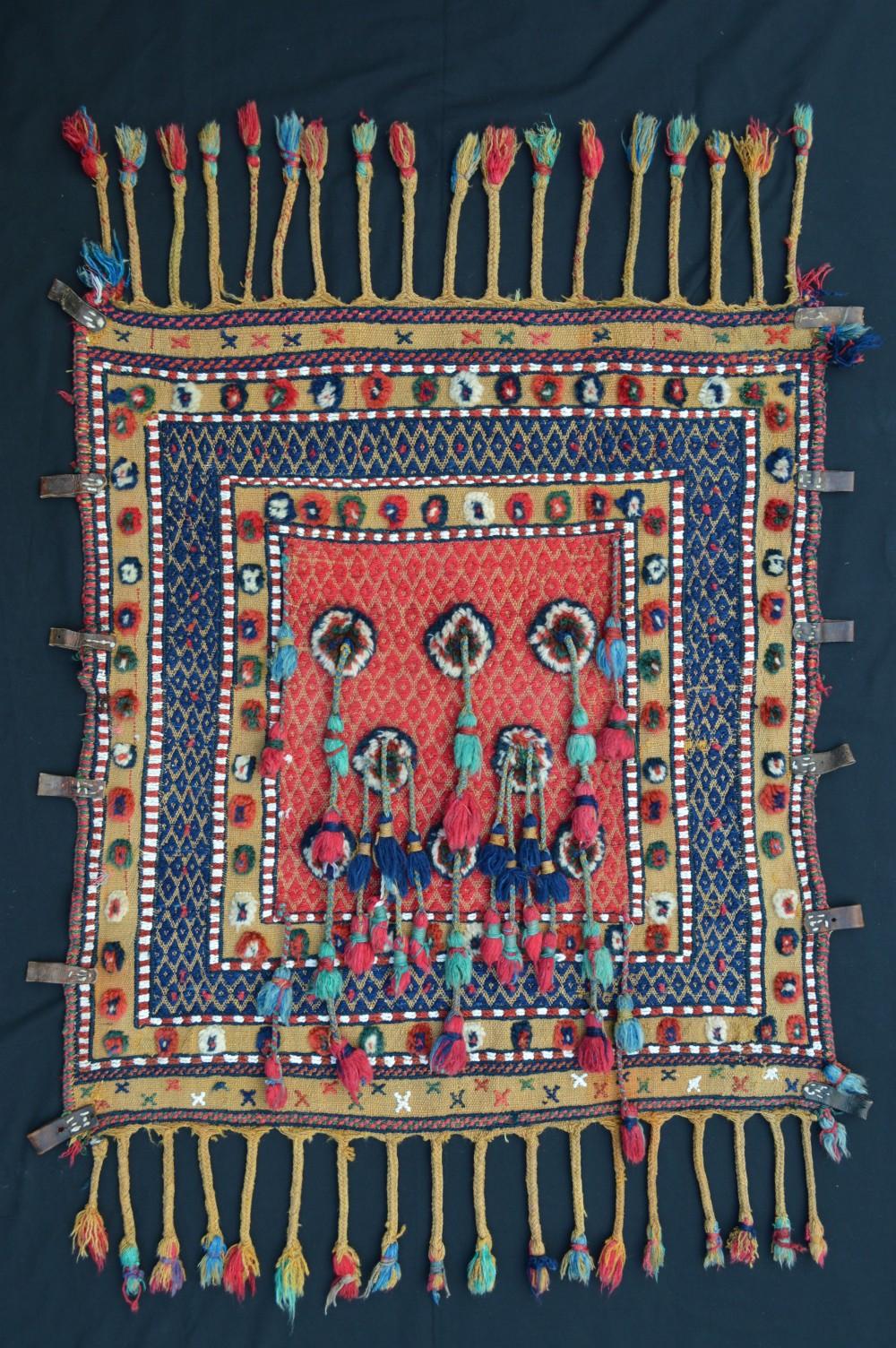 antique baby cradle qashqa'i nomads fars province southwest persia