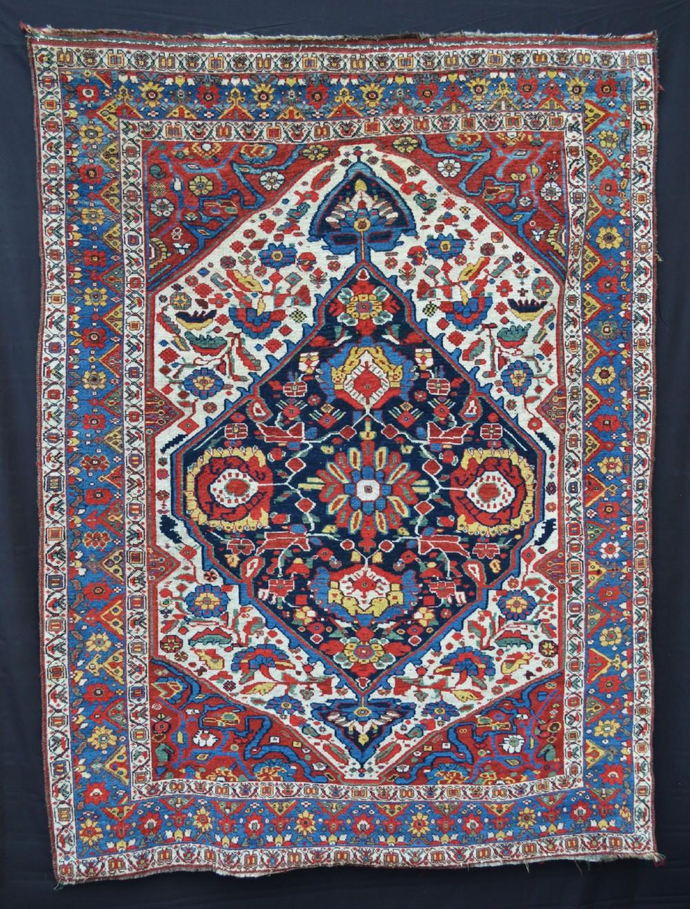 antique khamseh confederacy tribal rug baharlu subtribe southwest persia