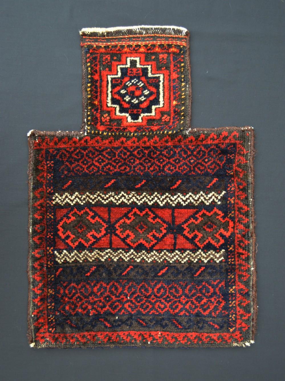 antique saltbag baluch tribes khorassan northeast persia