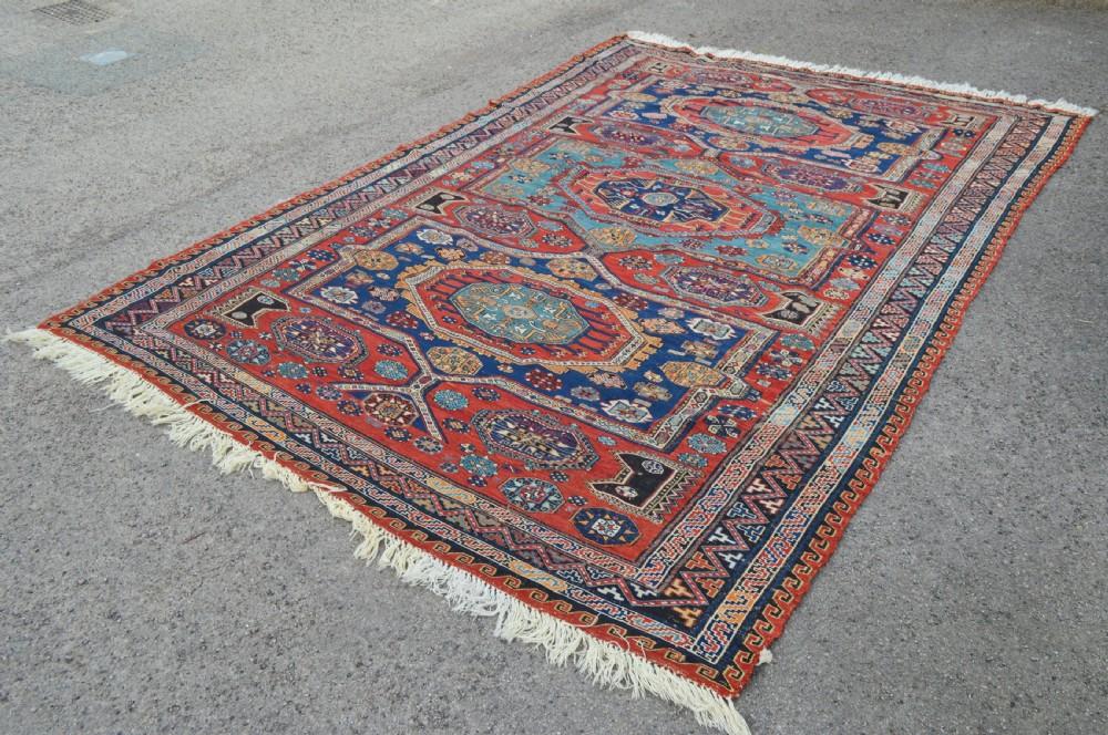 antique soumak carpet daghestankuba region eastern caucasus