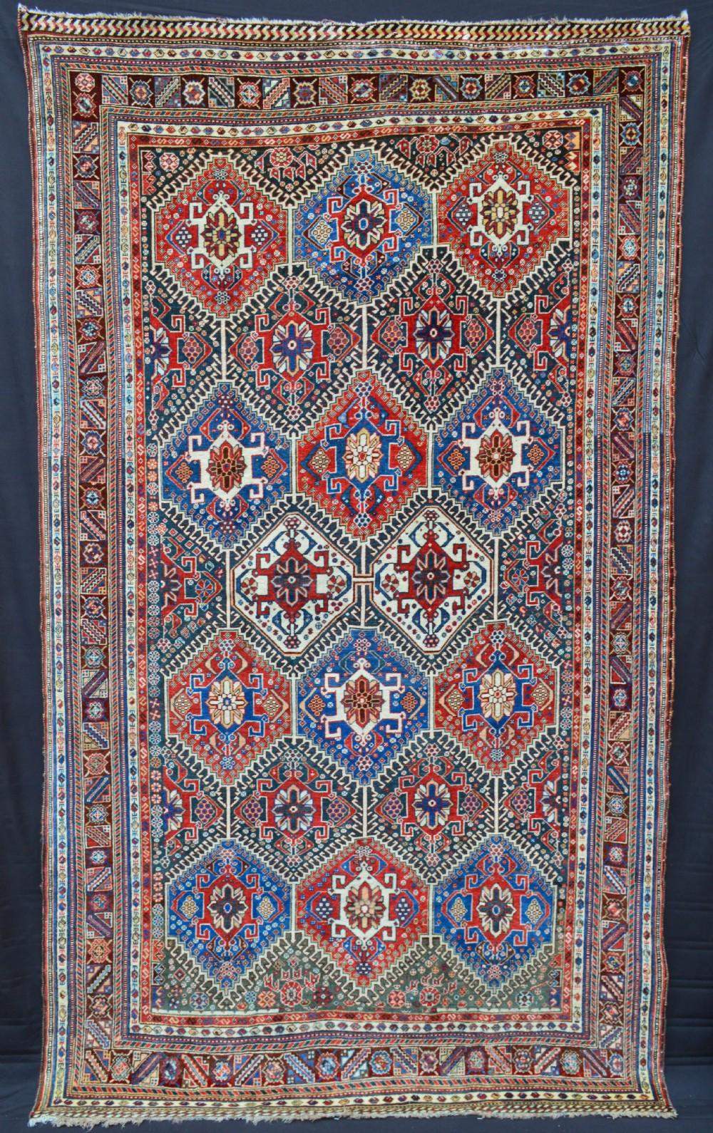 antique qashqa'i carpet fars province southwest persia