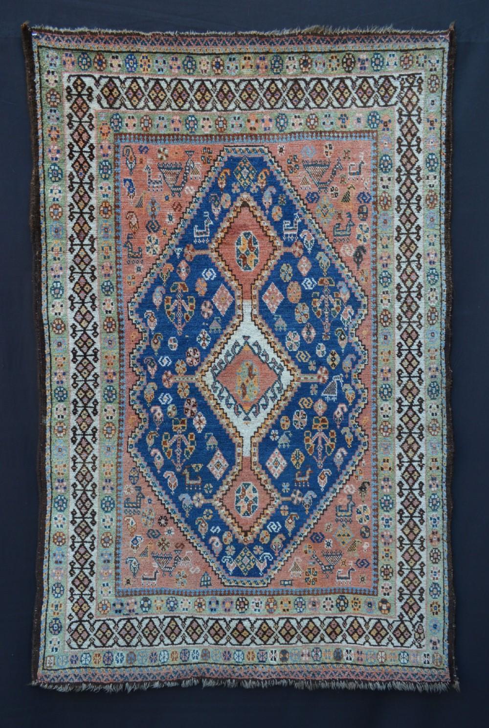 antique qashqa'i rug bolvardi taifeh fars province southwest persia
