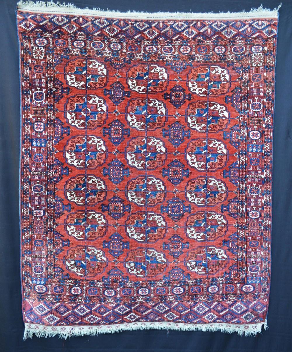 antique turkmen rug teke tribes turkmenistan central asia