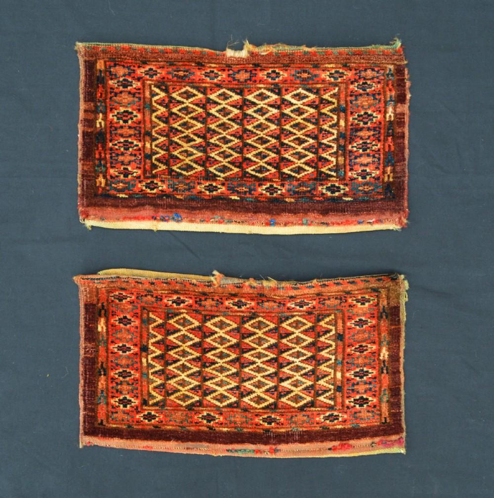 pair of antique turkmen kaps yomut tribes transcaspian steppes turkmenistan