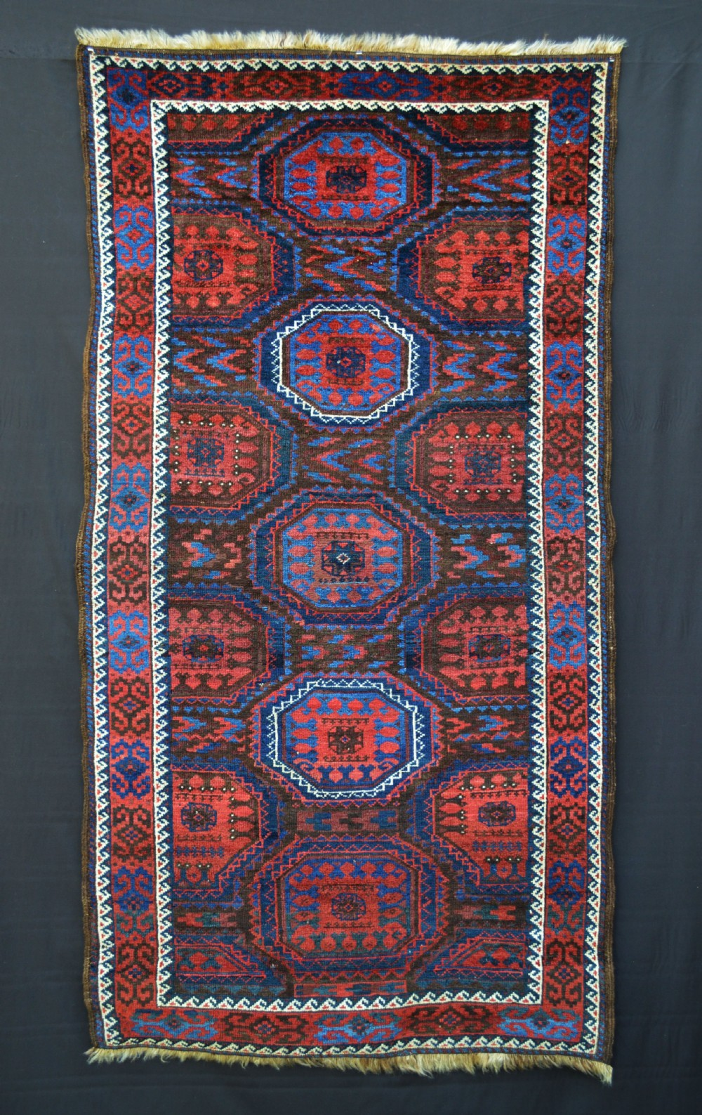 antique baluch rug mahdad khani tribe khorassan province northeast persia