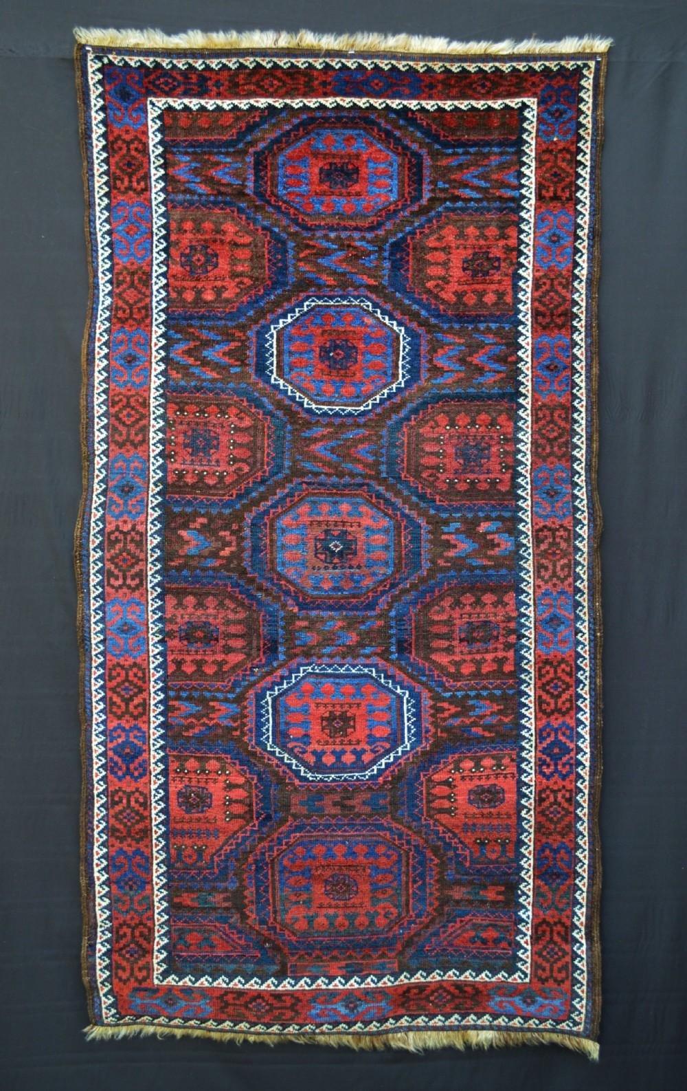 antique baluch rug mahdad khani tribe khorassan province northeast persia