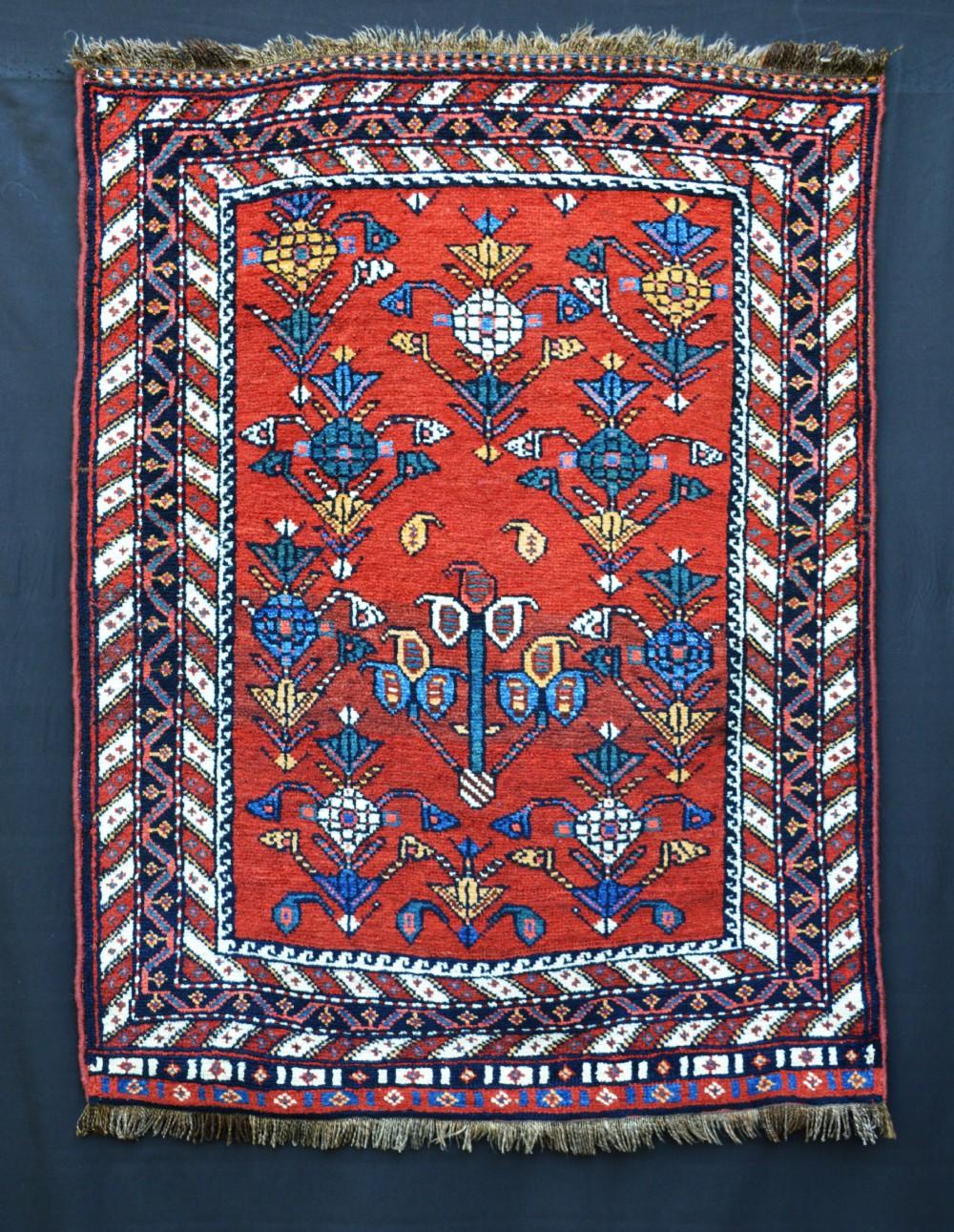 antique luri rug luristan western persia