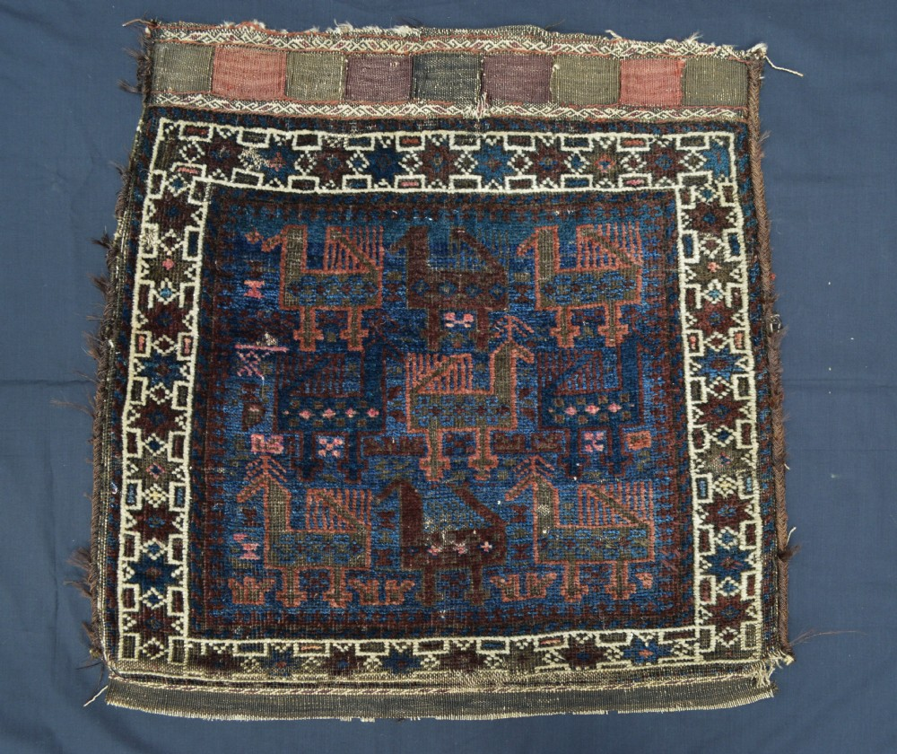 antique half saddlebag baluch tribes northeast persia