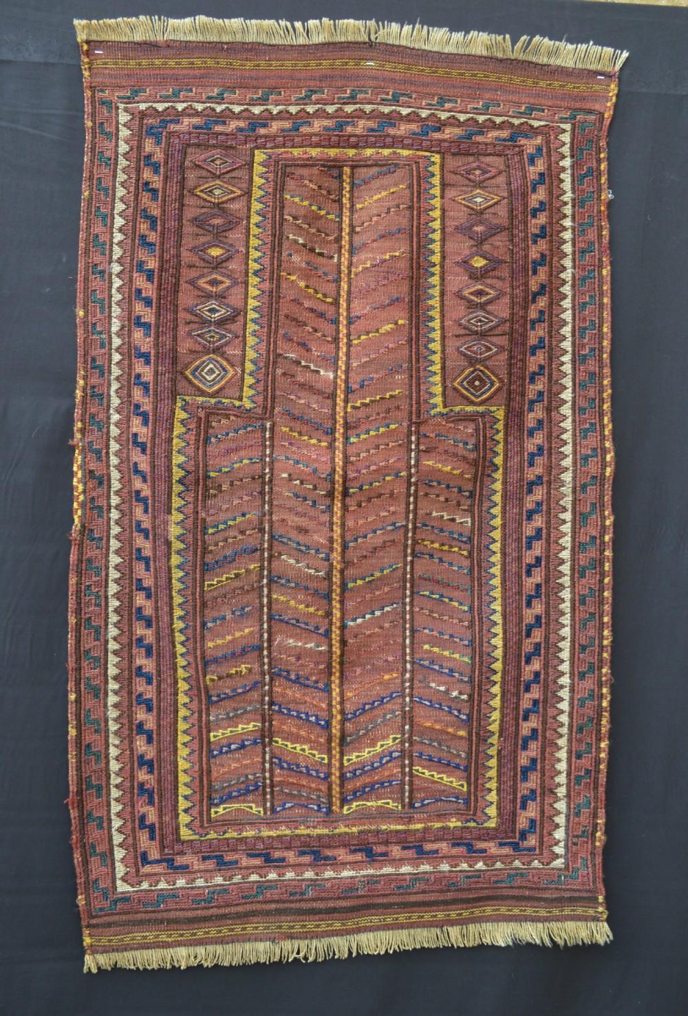 antique prayerrug kordi tribes of quchan northeast persia