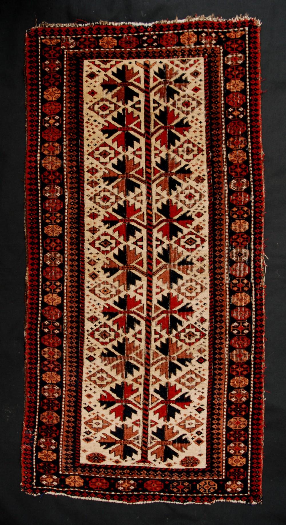 antique balisht pillow bagface baluch salarkhani tribes khorassan province northeast persia